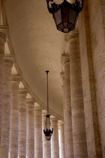 View under the pillars