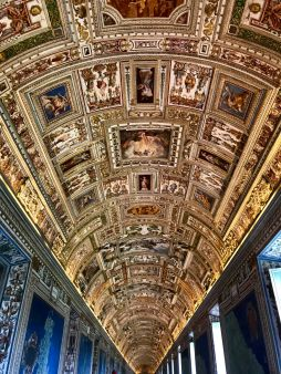 "The long halls of the Vatican - artwork was done by a collection of ""minor"" artists."